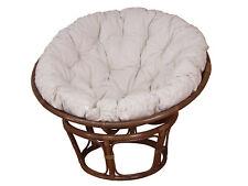 Papasansessel mit Kissenauflage Sessel in 3 verschiedenen Größen Braun Retro