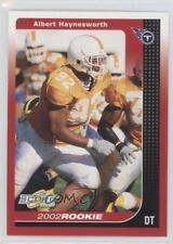 2002 Score #305 Albert Haynesworth Tennessee Titans RC Rookie Football Card