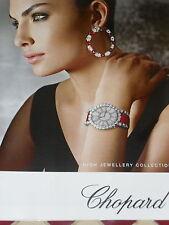 PUBLICITE  2012   CHOPARD  joaiullerie bijoux boucles d'oreilles montre