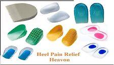 NUOVO Supporto Tallone Pad Tazza CILINDRICI Gel Silicone Shock Cuscino ORTOTTICA, solette solette per scarpe