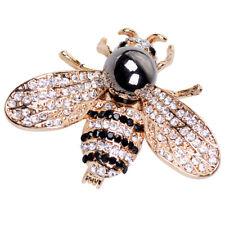 Vintage Bee Insect Brooches Wedding Crystal Rhinestone Bridal Pearl Broach