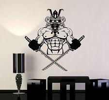 Vinyl Wall Decal Samurai Skull Katana Asian Warrior Stickers Murals (ig4737)