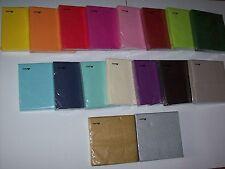 Edle Servietten von STEWO einfarbig uni geprägt 33 x 33 cm 3-lagig zur Auswahl