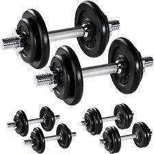Set Mancuernas con Pesas Halteras Fitness Acero Hierro Musculación Gimnasio