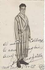 Autografo dedica fot Amedeo Grillo pugile New York 1928