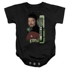 "Star Trek TNG ""Commander Riker"" Infant One Piece - Small - XL"