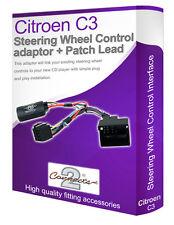 Citroen C3 steering wheel control lead, car stereo stalk adapter interface