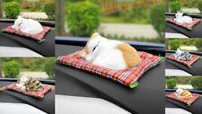 Deko Katze mit Kissen Dekoration für Auto Wohnung ton Geschenk Geschenkidee
