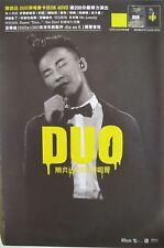 """EASON CHAN """"DUO"""" HONG KONG PROMO POSTER -Cantopop Music"""