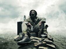 Apocalypse Survival Dystopia Post-apocalyptic Gas Mask Giant Wall Print POSTER