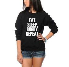 Eat Sleep Rugby Repeat Pulli - Spieler Trainieren Jugend und Damen-Sweatshirt