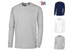 BP Langarmshirt 1620 171 Unisex Mischgew. Blau Weiß Grau T-Shirt Langarm XS-4XL