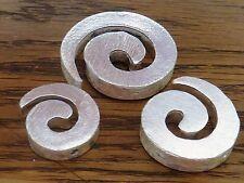 SCHNECKE Spirale Perle Zwischenteil rund Kupfer versilbert silber gebürstet 2574