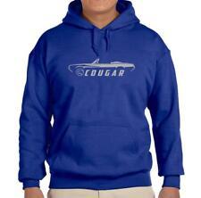 1967 1968 Mercury Cougar Convertible Royal Blue Hoodie Sweatshirt FREE SHIP
