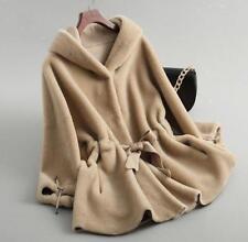 New Womens Warm Hooded Genuine shearling Lamb Fur Coat Jacket Sheepskin Parka DD