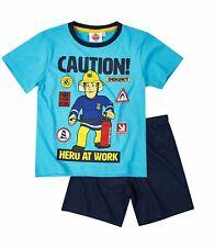 Feuerwehrmann Sam Shorty-Pyjama/Schlafanzug kurz Jungen 104 110 116 128 140