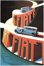 Vintage Fiat Motor Car Advertisement Poster A3/A2 Print