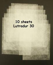 "Lutradur 30 - pack of 10 sheets (min 9""x7"")"