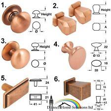 Designer Modern Copper Finish Knob Range Collection Kitchen Cabinet Door Handle