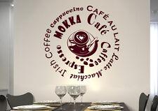 wkf04 WandTattoo Wandsticker WandSpruch CAFE COFFEE KAFFEE  KÜCHE