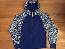 NWT Adidas Women's Animal Print Full-Zip Hoody Blue AB8874 $50
