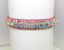 ~ Enchanting Pink Aurora~ Bling Rhinestone Dog Cat Pet Collar USA