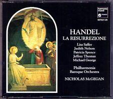 HANDEL: LA RESURREZIONE Lisa Saffer Michael George Nelson NICHOLAS McGEGAN 2CD