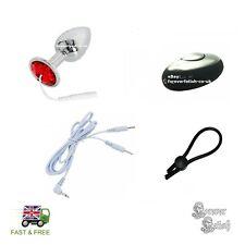 EStim E-Stim Electro Stimulation Kit Massage Conductive Plug Insert Sissy Chrome