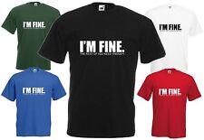 Estoy bien necesita tratamiento Gracioso T-Shirt Tee insulto comedia broma regalo de Navidad Top