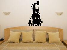 Thor Marvel superhéroe Hero dormitorio de los niños de la Etiqueta de pared Arte Adhesivo De Imagen