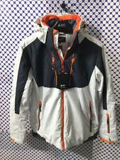 Veste Ski Astrolabe Homme Serrure Capuchon Crochet Plastique Blanc Gris AB9G