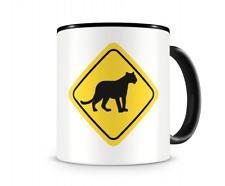 Panther Warnschild Tasse Kaffeetasse Teetasse Kaffeepott Kaffeebecher Becher