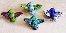 Peruvian Ceramic CUTE Hummingbird Pendant Focal Bead DIY Charm