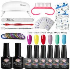 20PCS/SET MEET ACROSS Pro Nail Art Accessories Gel Nail Polish File UV Lamp Kit