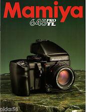 MAMIYA 645 PRO TL CATALOG  (ORIGINAL PRINT JAPAN) ((( 3 languages to pick )))