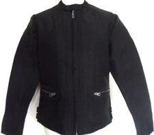 FRENCH CONNECTION FCUK Jacket Men's Coat Biker Style Full Zip Black Sizes: M-XL