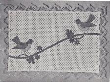 Vintage Crochet Pattern Bird Applique Motif Placemat