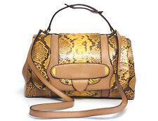 Marc Jacobs Thompson Snakeskin Top Handle Satchel Handbag Camel