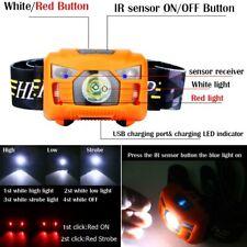 3000LM USB wiederaufladbare LED Stirnlampe IR Sensor Scheinwerfer Camping Fackel