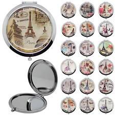 Handbag Mirror Compact Pocket Travel Flip Mirrors Women Monament Eiffel Tower