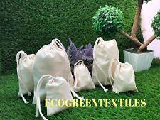 5x7 inch 100% Cotton Drawstring Muslin bags Choose Quantities 25, 50,100, 200