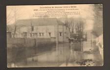 SENS (89) INONDATION 1910 ,ATTELAGE à la REMISE RONDEAU
