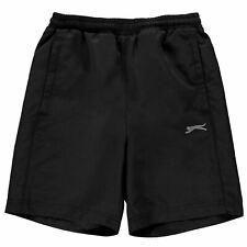 Slazenger Ninos Junior Chicos De Punto Shorts Cintura Elástica Short Pantalones