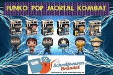 Funko Pop Vinyl Figur MORTAL KOMBAT Scorbion Raiden Kitana SUB-Zero Liu Kang