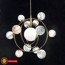 Universe Moon Sun Earth Chandelier Glass Planet LED Pendant Light Ceiling Lamp