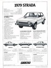 1979 Fiat Strada X19 Spider Brava - Classic Vintage Advertisement Ad H17