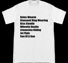 Rick Flair Rolex Wearing Jet Flyin Kiss Stealing Son Of A Gun White Shirt S-2XL