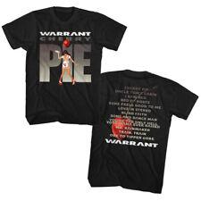 Warrant Cherry Pie Album Song List Double Sided Adult T Shirt Rock Music