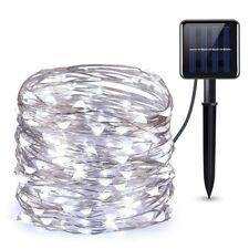 50/100/200 LED Solar Lichterkette Kupferdraht Lichterkette Beleuchtung Warm Weiß
