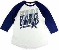 66796f35c17 Dallas Cowboys Mitchell & Ness Women's 3/4 Sleeve Distressed Raglan T-Shirt